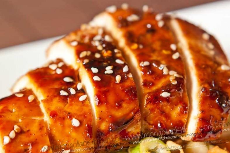 Teriyaki chicken salad mongoliankitchen pin it teriyake chicken salad recipe forumfinder Gallery