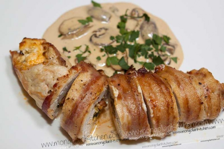 Pancetta wrapped chicken | MongolianKitchen.com