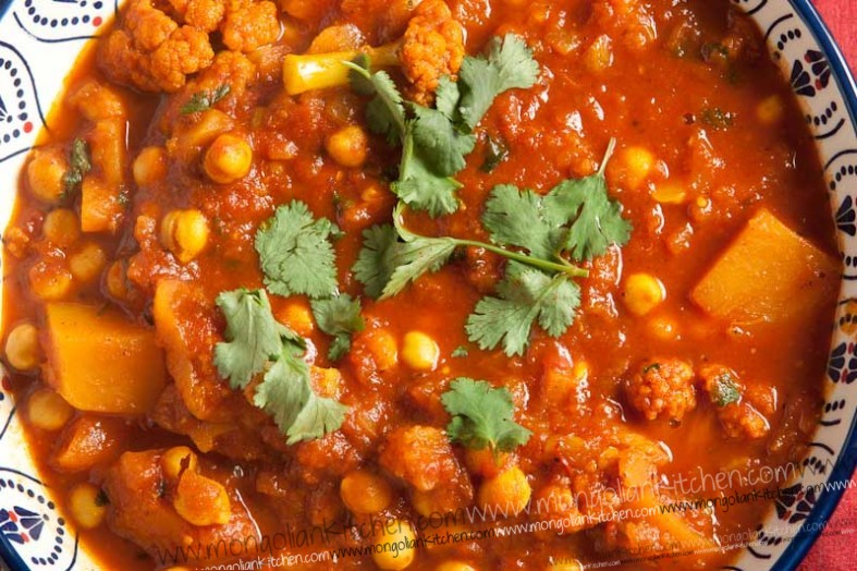 ... and chickpea - Vegetable Moroccan Tagine recipe | MongolianKitchen.com