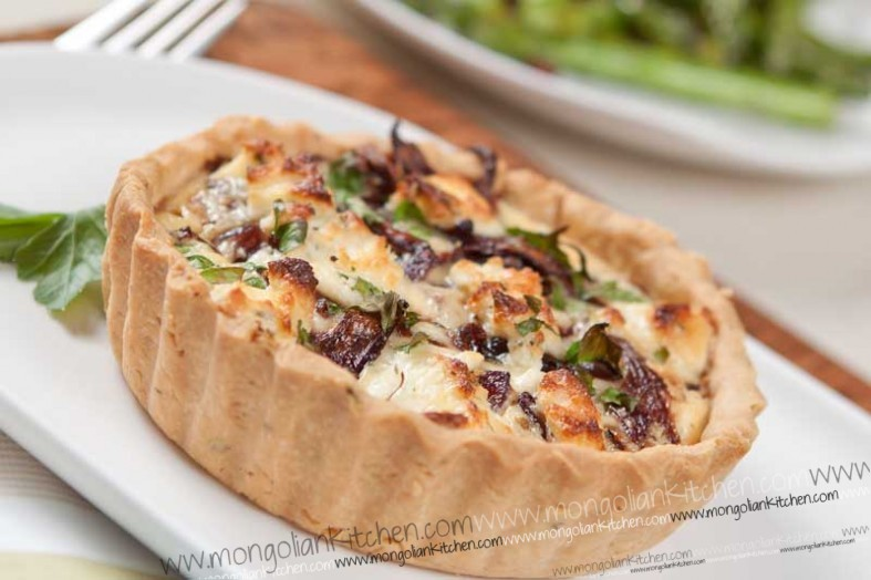 Caramelised onion and goats cheese tart Recipe - Goats cheese tart ...