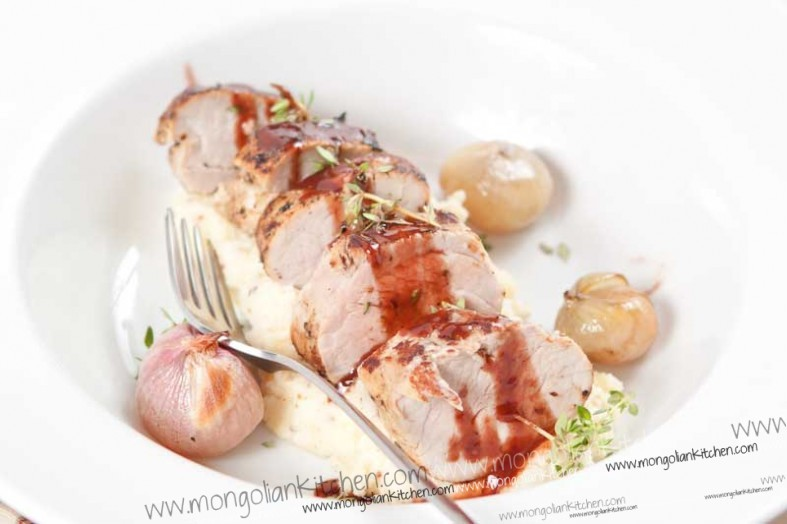 Roast Pork Loin with port sauce recipe