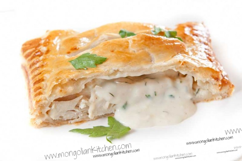 Creamy Chicken Pie Recipe How To Make A Puff Pastry Chicken Pie With Bechamel Filling