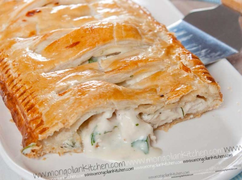 Creamy Chicken Pie Recipe How To Make A Puff Pastry